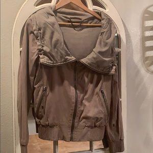 Drapefront Leather jacket